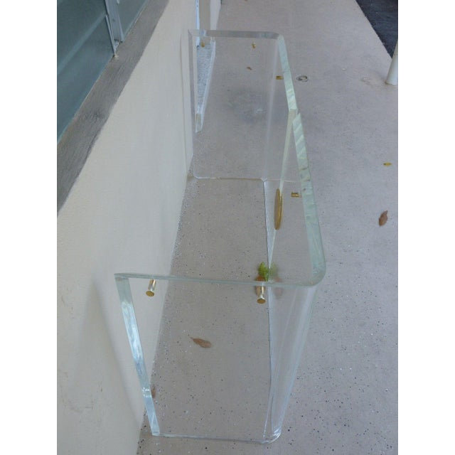 1970's Vintage Lucite Console Table For Sale - Image 4 of 7