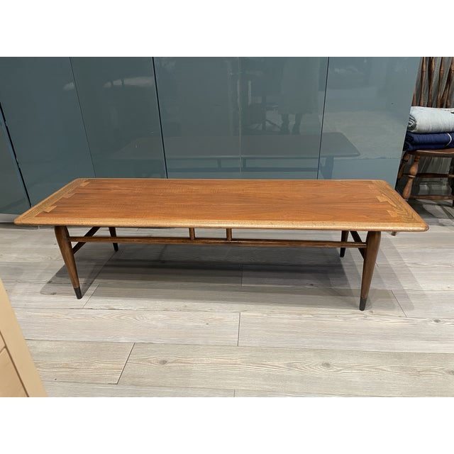 Coffee MCM Lane Acclaim Coffee Table With Ash Dovetail Detail For Sale - Image 8 of 8
