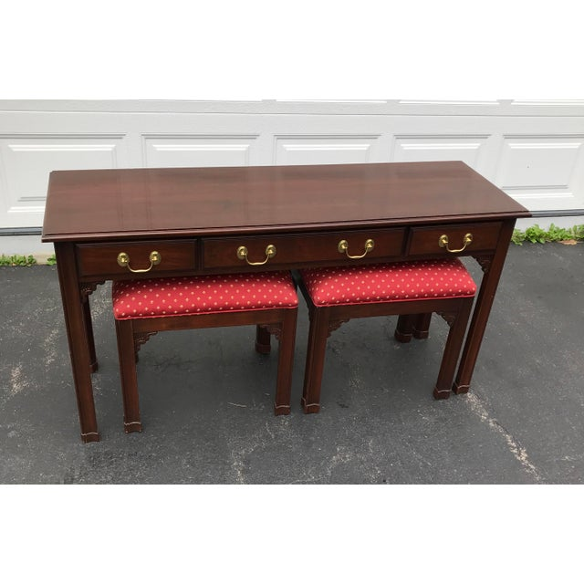 Harden Chippendale Sofa Table Credenza With Benches a Pair For Sale - Image 13 of 13