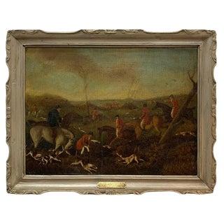 19th Century English Fox Hunt, Henry Alken Senior, Attributed For Sale