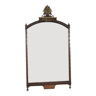 Mid Century Floral Wall Mirror For Sale