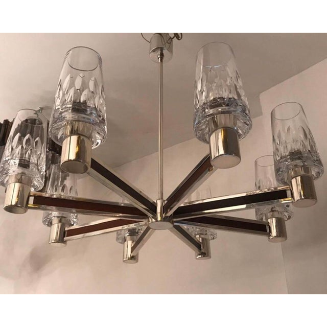 1970s 1970s German High Style Crystal Chandelier For Sale - Image 5 of 10