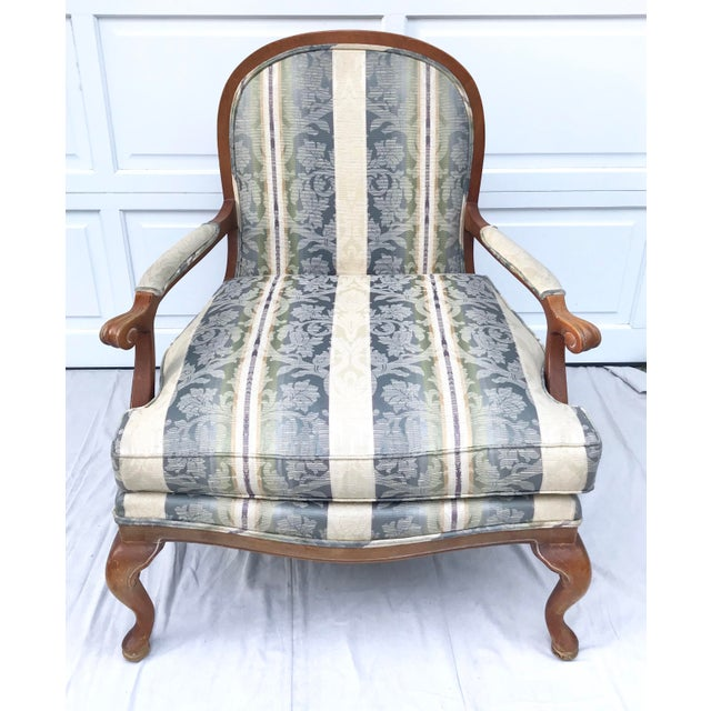 The American School Late 20th Century Vintage Lattice Back Thomasville Chair For Sale - Image 3 of 9