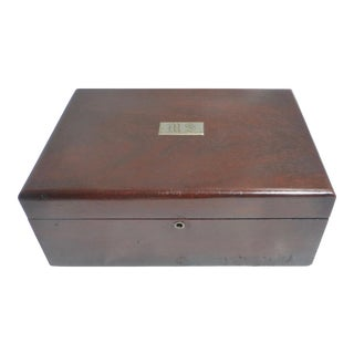 Vintage Rosewood Humidor Box For Sale