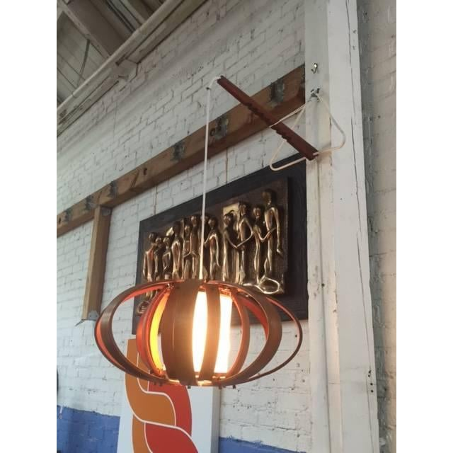 Vintage Bent Wood Wall Mounted Lamp - Image 4 of 6