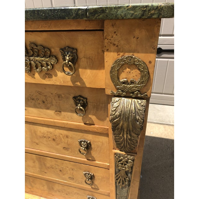 Metal Antique Biedermeier Style Chest of Drawers For Sale - Image 7 of 9