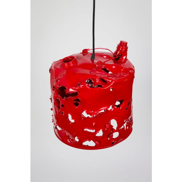 Contemporary Gas Can Pendant Light by Charles Linder For Sale - Image 3 of 10