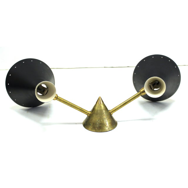 Italian Mid-Century Stilnovo Style Wall Sconce For Sale In New York - Image 6 of 8