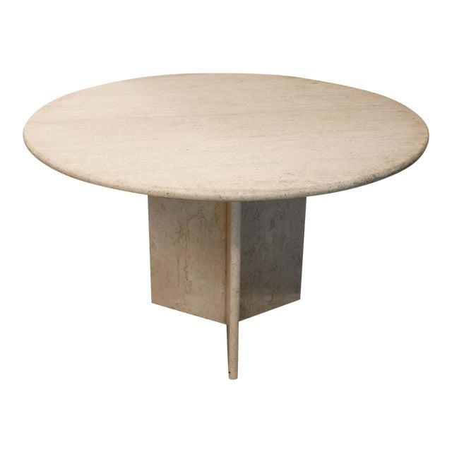 Round Travertine Dining Table Chairish