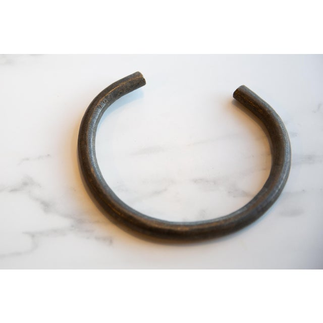 Metal Vintage African Bronze Artifact For Sale - Image 7 of 8