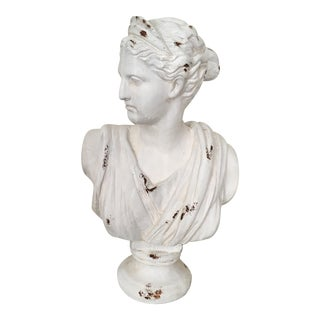 Neoclassical Plaster Bust of Diana