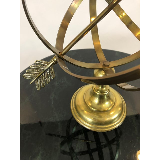 Neoclassical Neoclassical Brass Armillary For Sale - Image 3 of 10