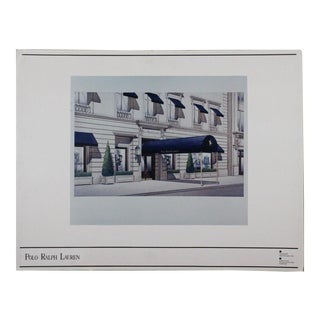 Polo Ralph Lauren Chicago Architectural Rendering Sheet For Sale