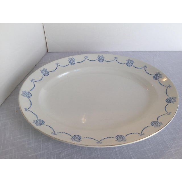 Late 20th Century Blue & White Oval Imperial Porcelain Platter For Sale - Image 5 of 13