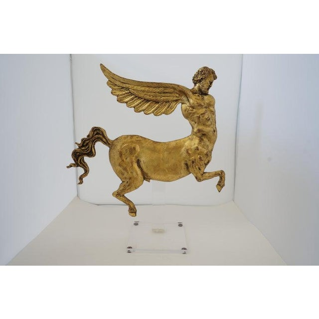Antique Neoclassic Revival Winged AlaCentaur Figure with Gold Leaf from a Palm Beach estate Please note the last picture...