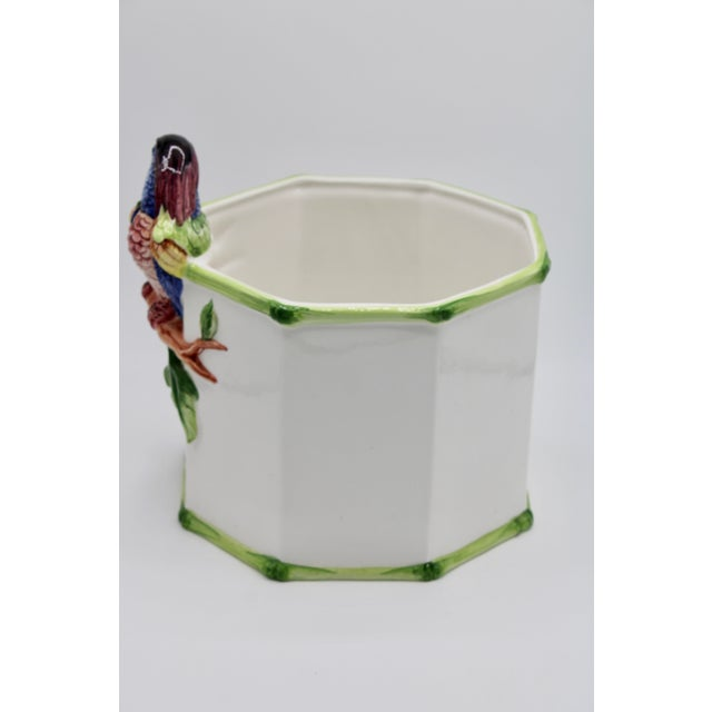 1960s 1960s Large Italian Ceramic Parrot Planter For Sale - Image 5 of 13