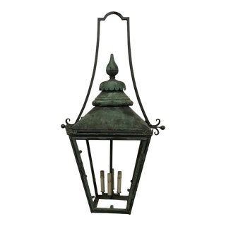 Antique English Copper Lantern For Sale