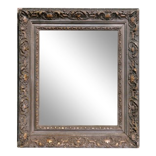 Antique Framed Gold Leaf Accents Mirror For Sale