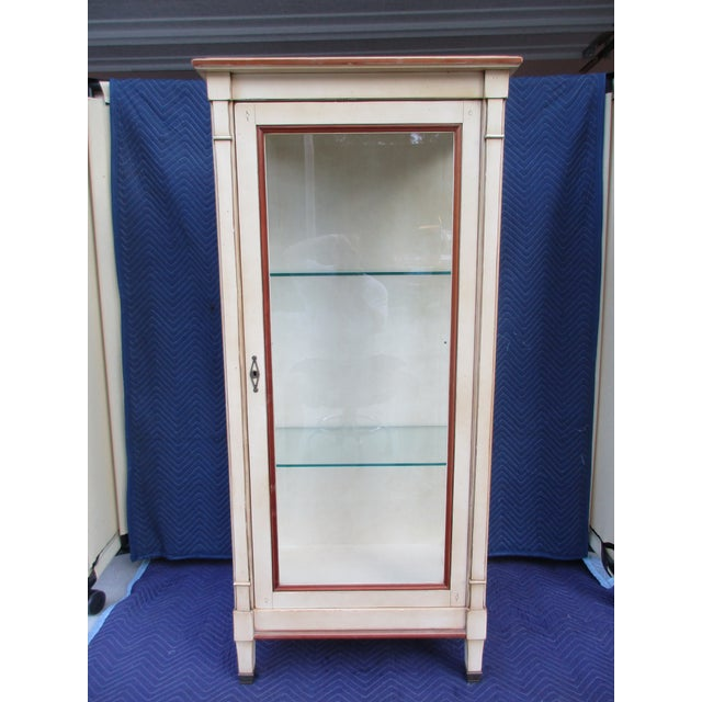 20th Century French Grange Lighted Display or Curio Cabinet For Sale - Image 13 of 13