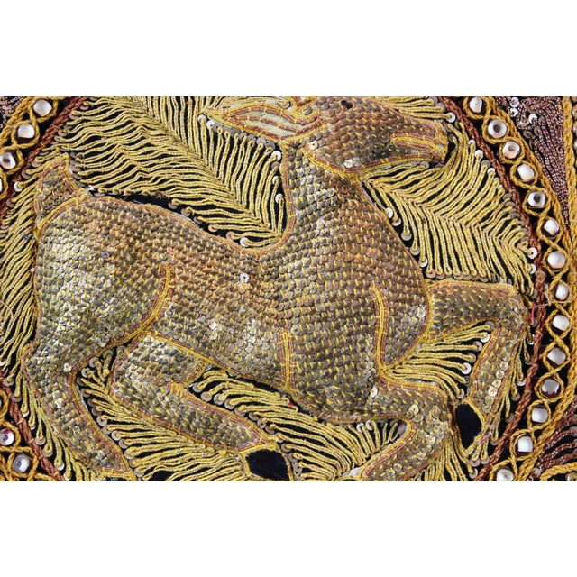 Pasargad DC Hand Made India Beaded Gazelle Raised Wall Art - a Pair For Sale - Image 11 of 12