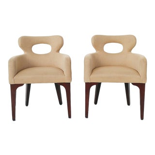 Mid Century Mark David Design Masters Collection Pq1072 Accent Chairs- a Pair For Sale