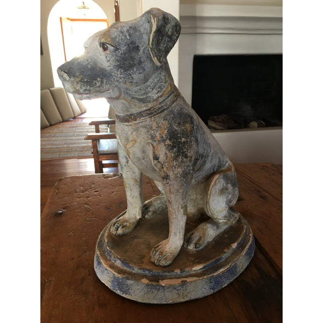 Traditional Vintage Mid Century Dog Statue For Sale - Image 3 of 10