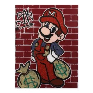 """""""Money Mario"""" Original Artwork by Sean Keith For Sale"""
