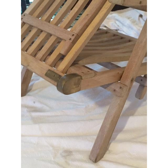 Vintage RMS Queen Elizabeth Cruise Line Deck Chair - Image 6 of 11