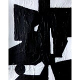 Image of Abstract Painting Original Black and White Contemporary Art by Brian Elston For Sale