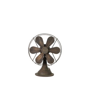 1920 Antique Diehl Articulating Oscillating Six Blade Desk Fan For Sale