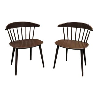 """1970s Danish """"J104"""" Chairs by Jorgen Baekmark for Fdb Møbler- a Pair For Sale"""