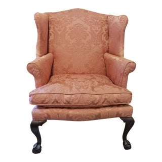 Mid 18th Century Vintage Chippendale Wing Chair For Sale