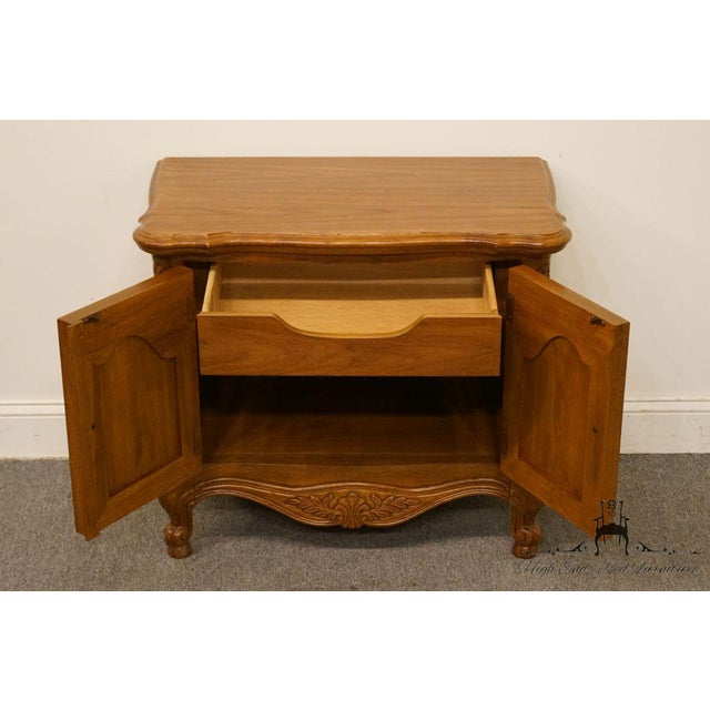 """Wood Lexington Furniture Chateau Latour Collection French Country 30"""" Nightstand For Sale - Image 7 of 13"""