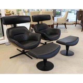 Cassina Jean-Marie Massaud Auckland Modern Lounge Chairs & Ottomans- a Pair Preview