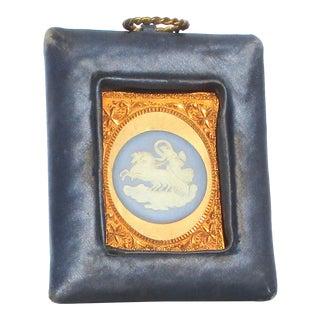 Vintage Wedgwood Charoit in Silk Framed Mounts For Sale