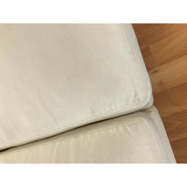 Charles Pfister for Knoll Settee in Off-White Canvas For Sale - Image 9 of 13