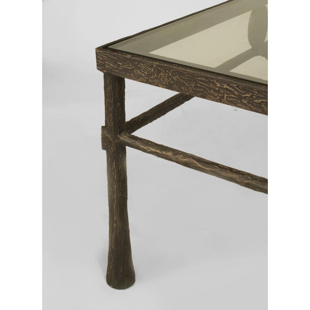 Modern Postwar Design 'Giacometti Style' Dark Bronze Patina Coffee Table For Sale - Image 3 of 5