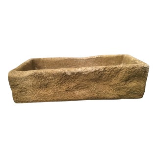 Rustic Cast Stone Farm Sink/Planter/Water Feature For Sale