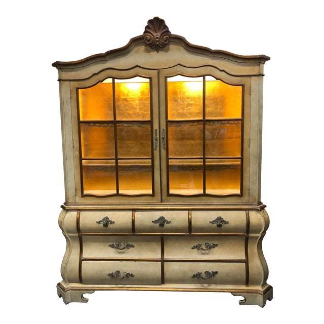Antique Bombay China Cabinet Circa 1910 For Sale