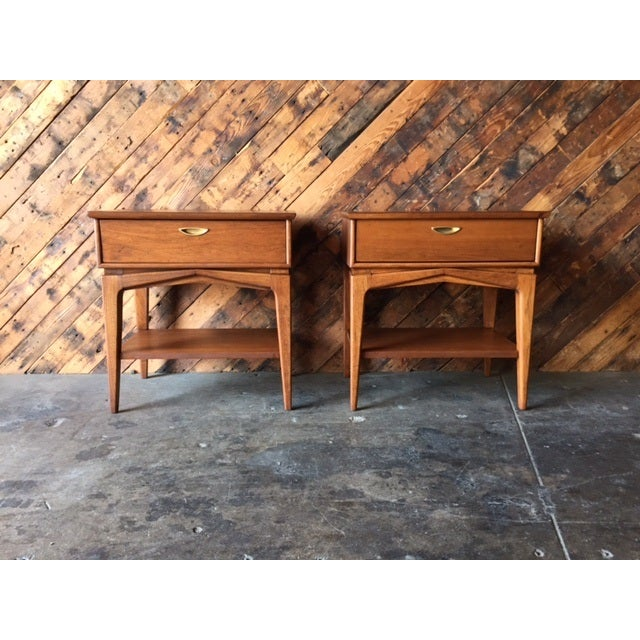 Mid-Century Refinished Kent Nightstands - Pair - Image 2 of 7