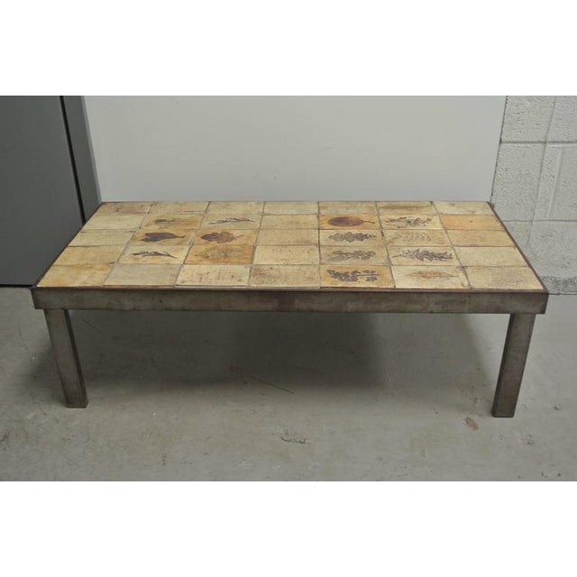 Metal Garrigue Tile Coffee Table by Roger Capron For Sale - Image 7 of 10