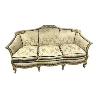 19th Century Louis XVI Upholstered Sofa Couch For Sale