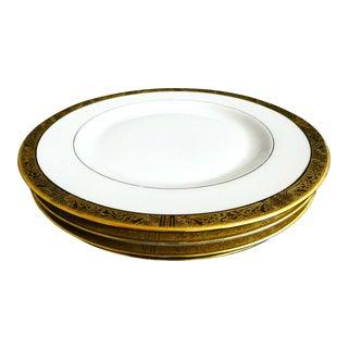 """Vintage 1922 Rosenthal China Gold Trimmed Dinner Plates 10.75"""" - Set of 4 For Sale"""