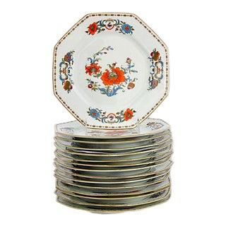 1980s Limoges Vieux Chine Salad Plates, Set of 15 For Sale