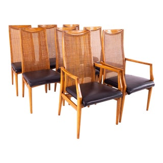 Drexel Heritage Mid Century Dining Chairs - Set of 8 For Sale
