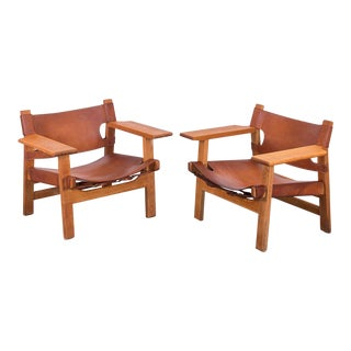 Pair of Borge Mogensen Spanish Chairs for Fredericia Stolefabrik For Sale