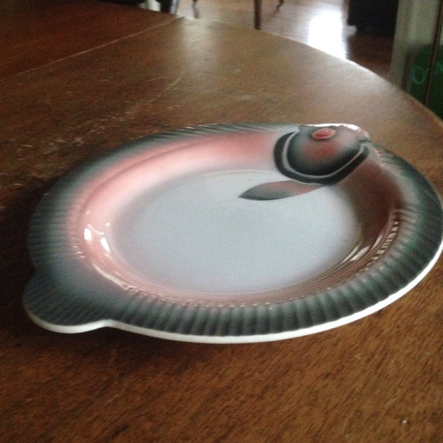French Porcelain Fish Plate For Sale - Image 5 of 9