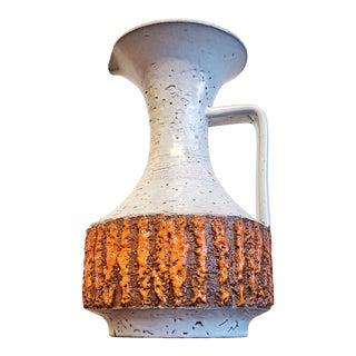 Studio 4 Orange and White Jug Vase (Italy) For Sale