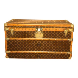 1930s Louis Vuitton Monogram Steamer Trunk, Malle Louis Vuitton For Sale