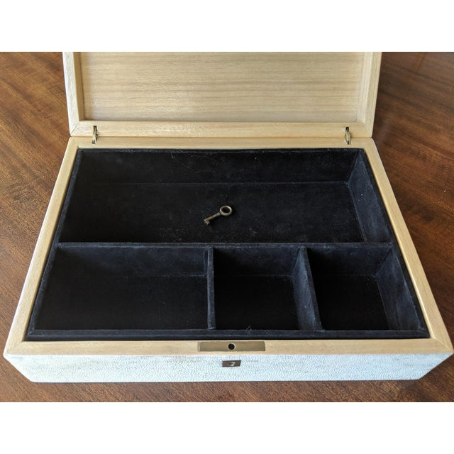 1980s 1980s R & Y Augousti Shagreen & Feather Box For Sale - Image 5 of 10